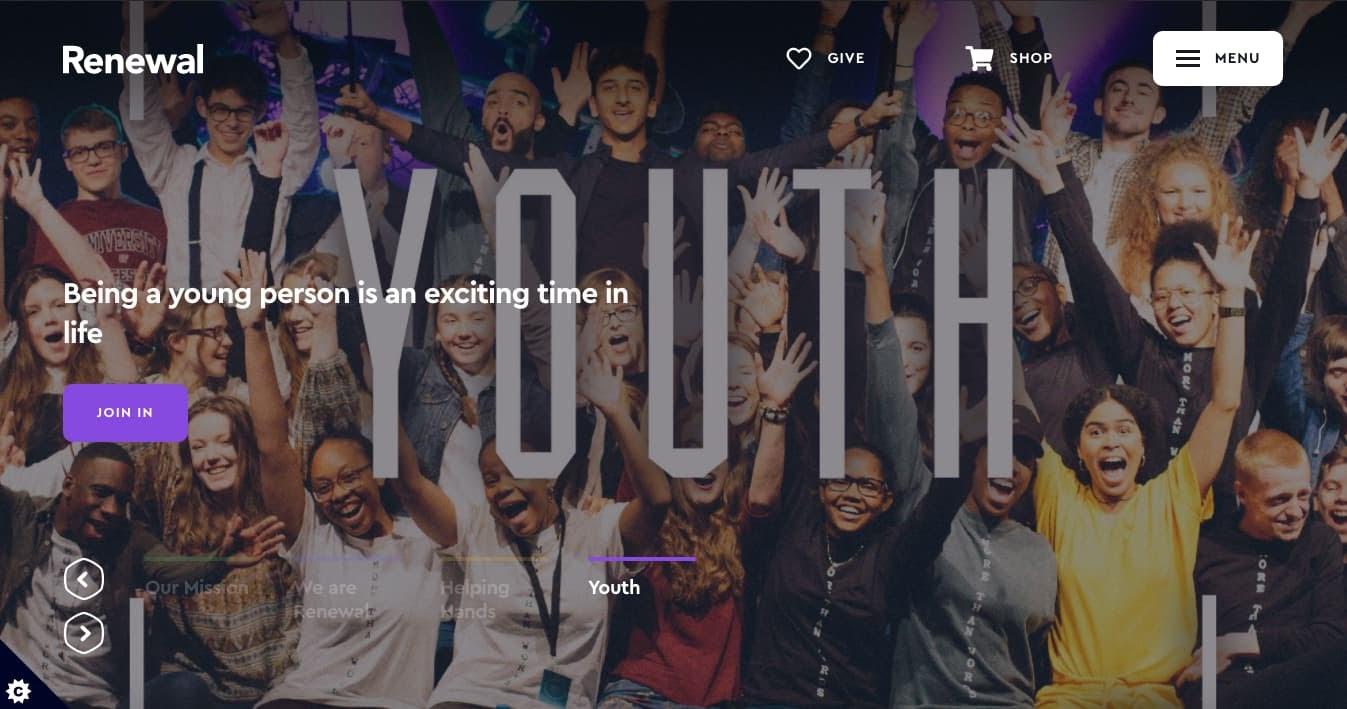 church websites: Renewal Church
