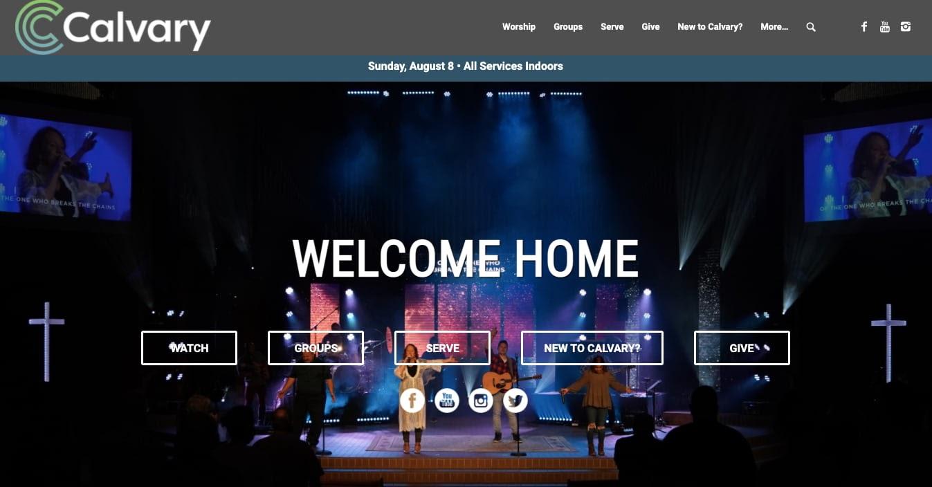church websites: Calvary
