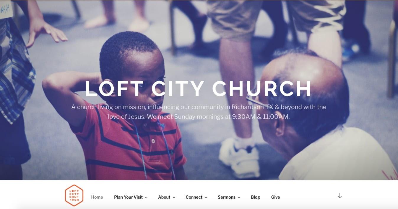church websites: Loft City Church