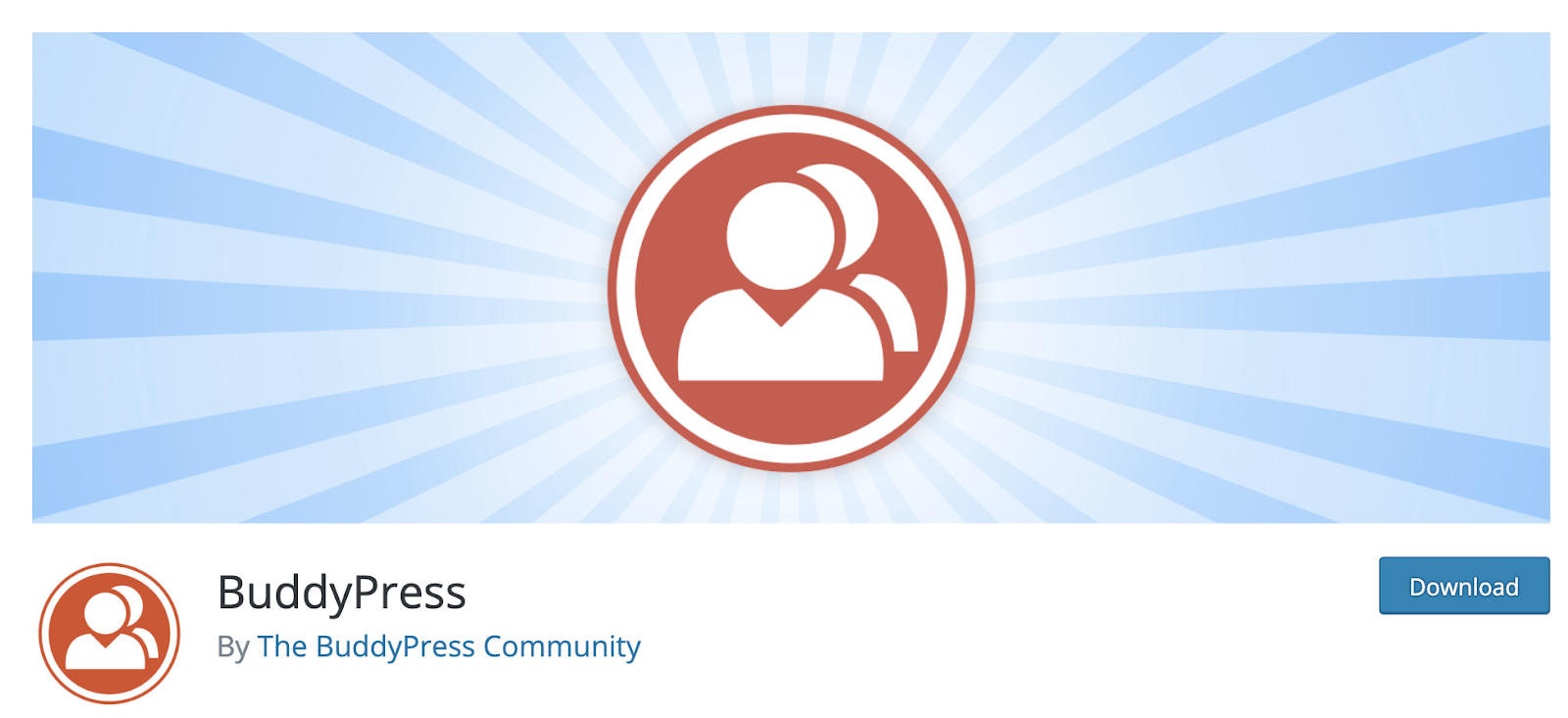 product page for the WordPress plugin buddypress