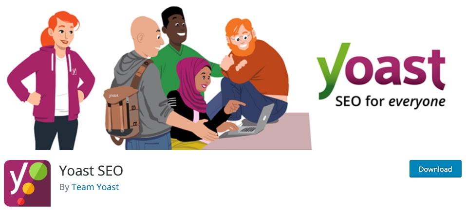 product page for the WordPress plugin yoast seo