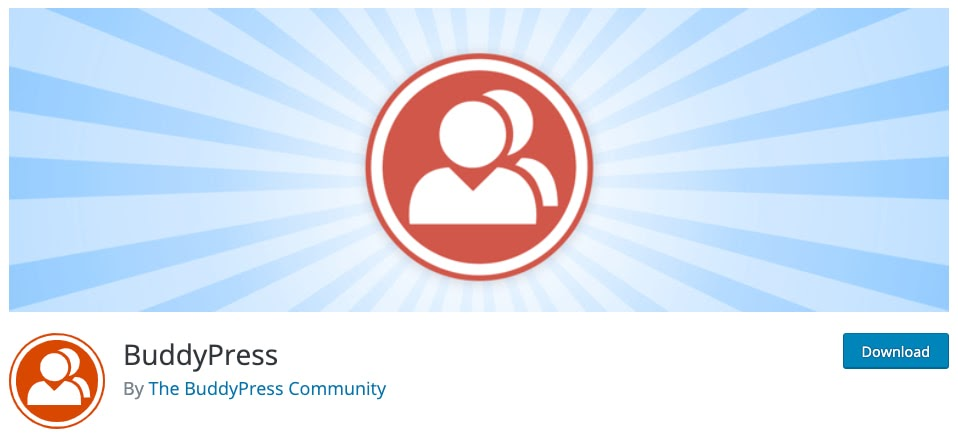 product page for the wordpress forum plugin buddypress