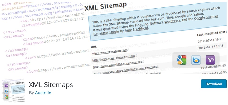download page for the wordpress traffic plugin xml sitemaps