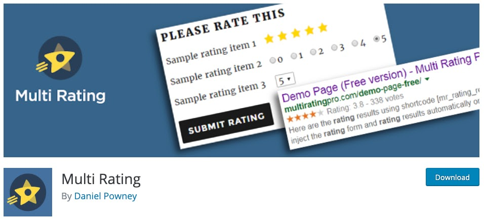 download page for the wordpress traffic plugin multi rating