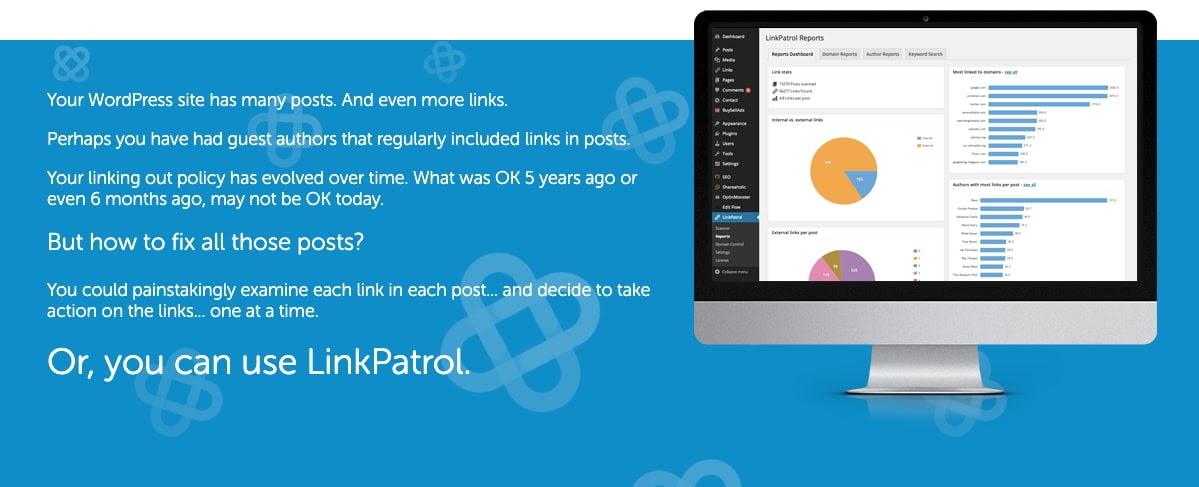 download page for the wordpress traffic plugin linkpatrol