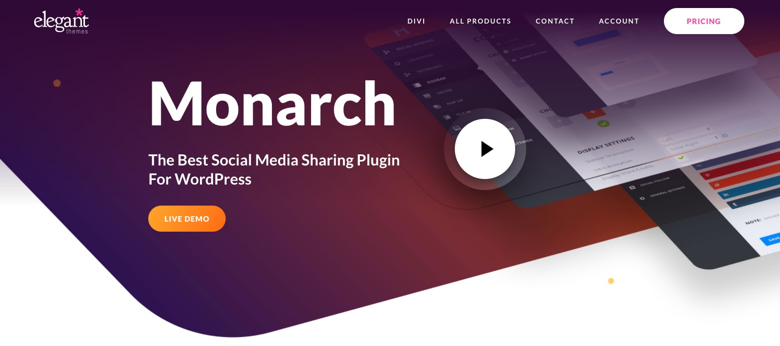 download page for the wordpress traffic plugin monarch