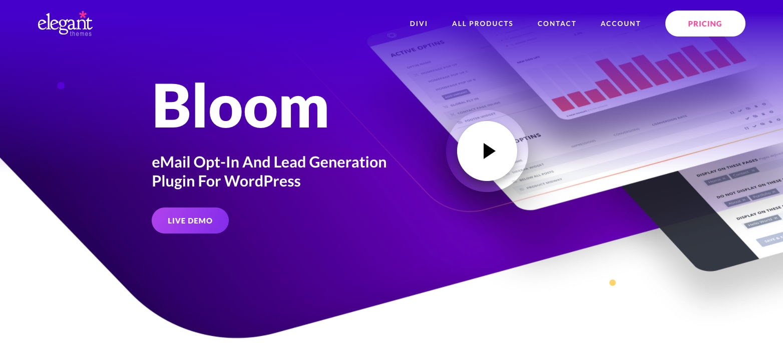 download page for the wordpress traffic plugin bloom