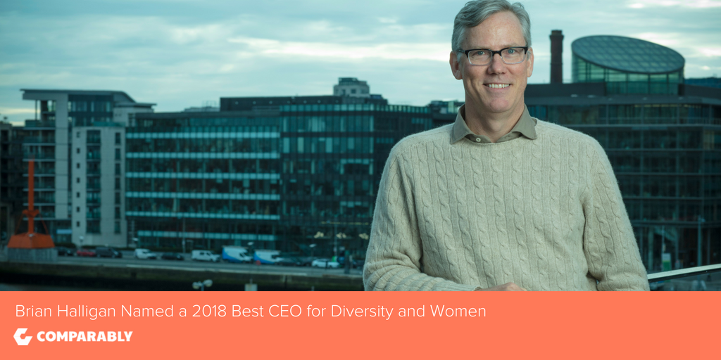 HubSpot CEO Brian Halligan Named a Top 5 'Best CEOs for Diversity' and 'Best CEOs for Women' in 2018 by Comparably