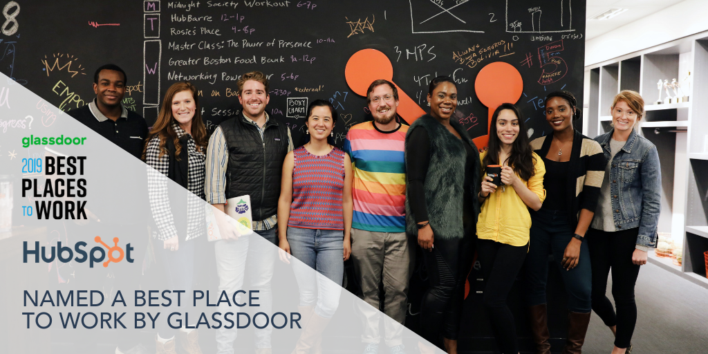 HubSpot Named a Best Place to Work in 2019 by Glassdoor