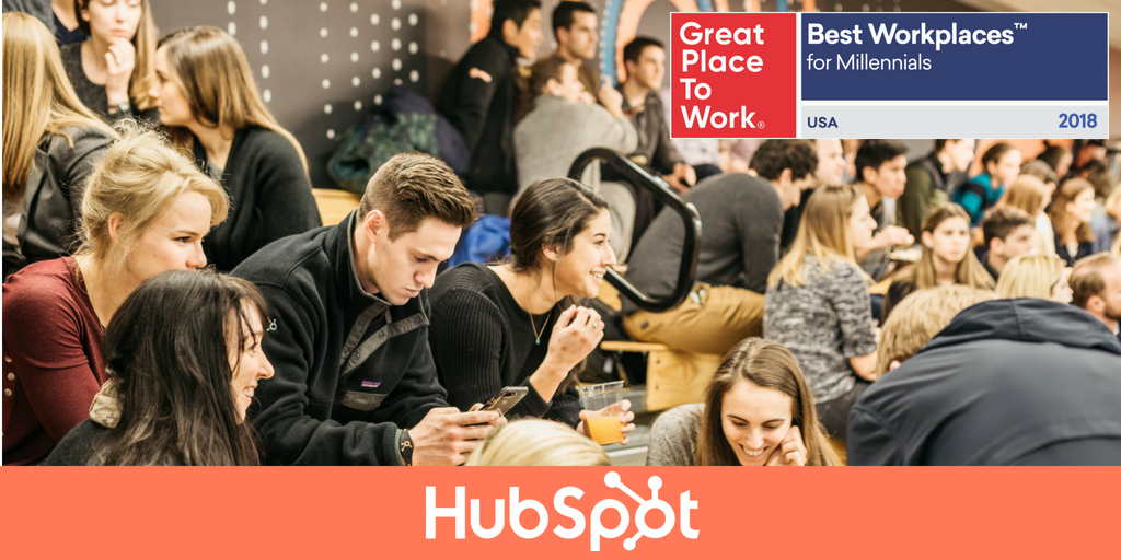 HubSpot Recognized as a Best Workplace for Millennials 2018 by Great Place to Work and FORTUNE
