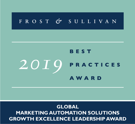 HubSpot Frost and Sullivan 2019 Best Practices Award