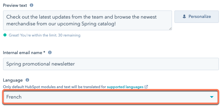 change-language-of-marketing-email-for-footer