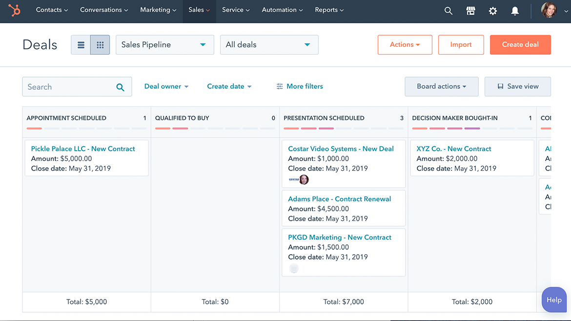 Get started with HubSpot's deal tracking software.