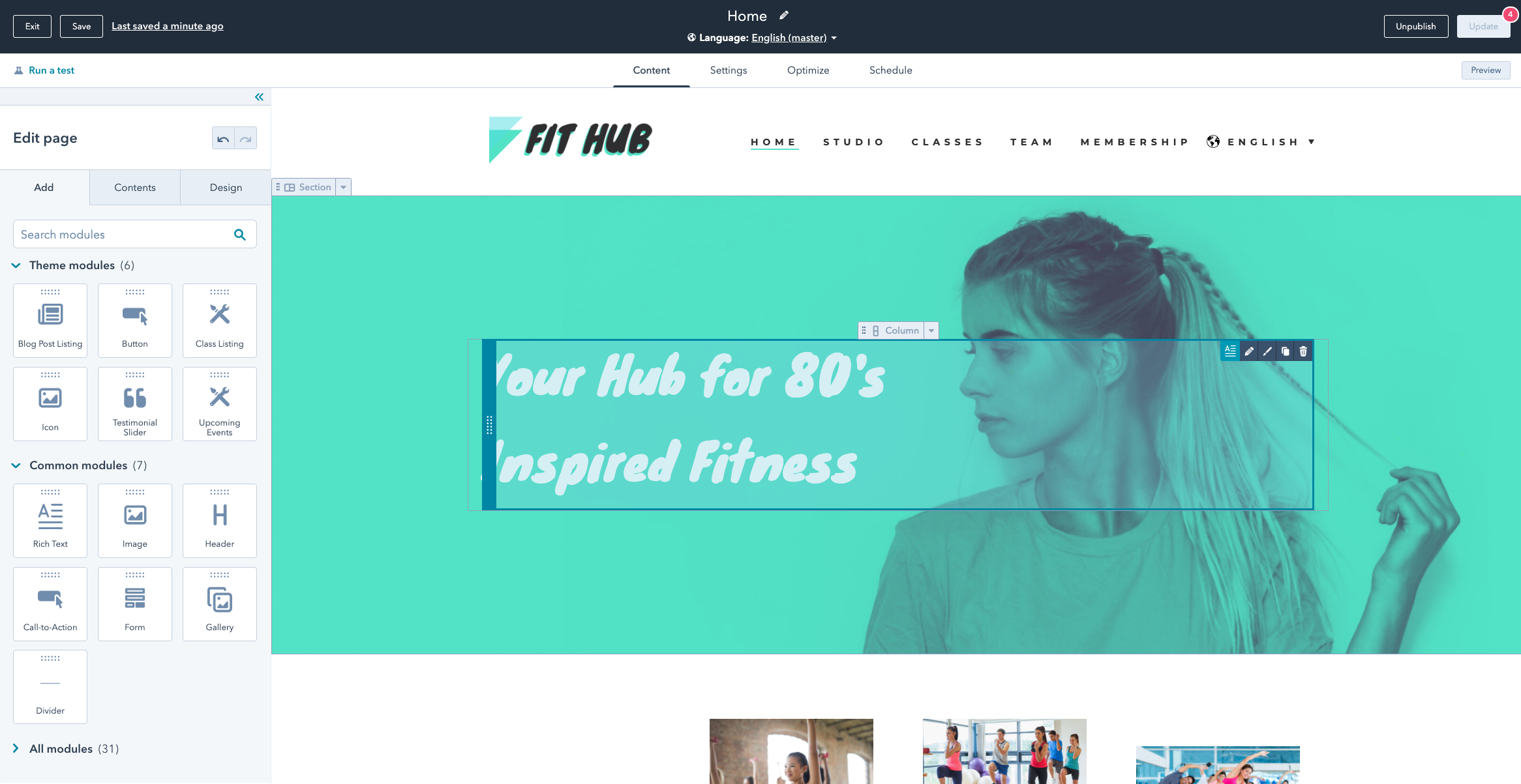 Comparación WordPress vs HubSpot: creación de contenido