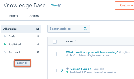 export-knowledge-base