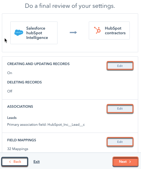 review-salesforce-settings
