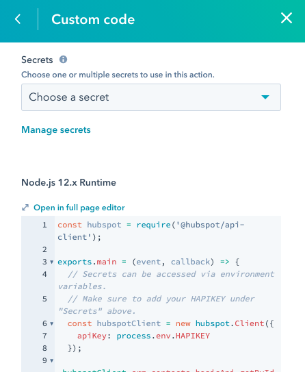 workflows-custom-code-action-example