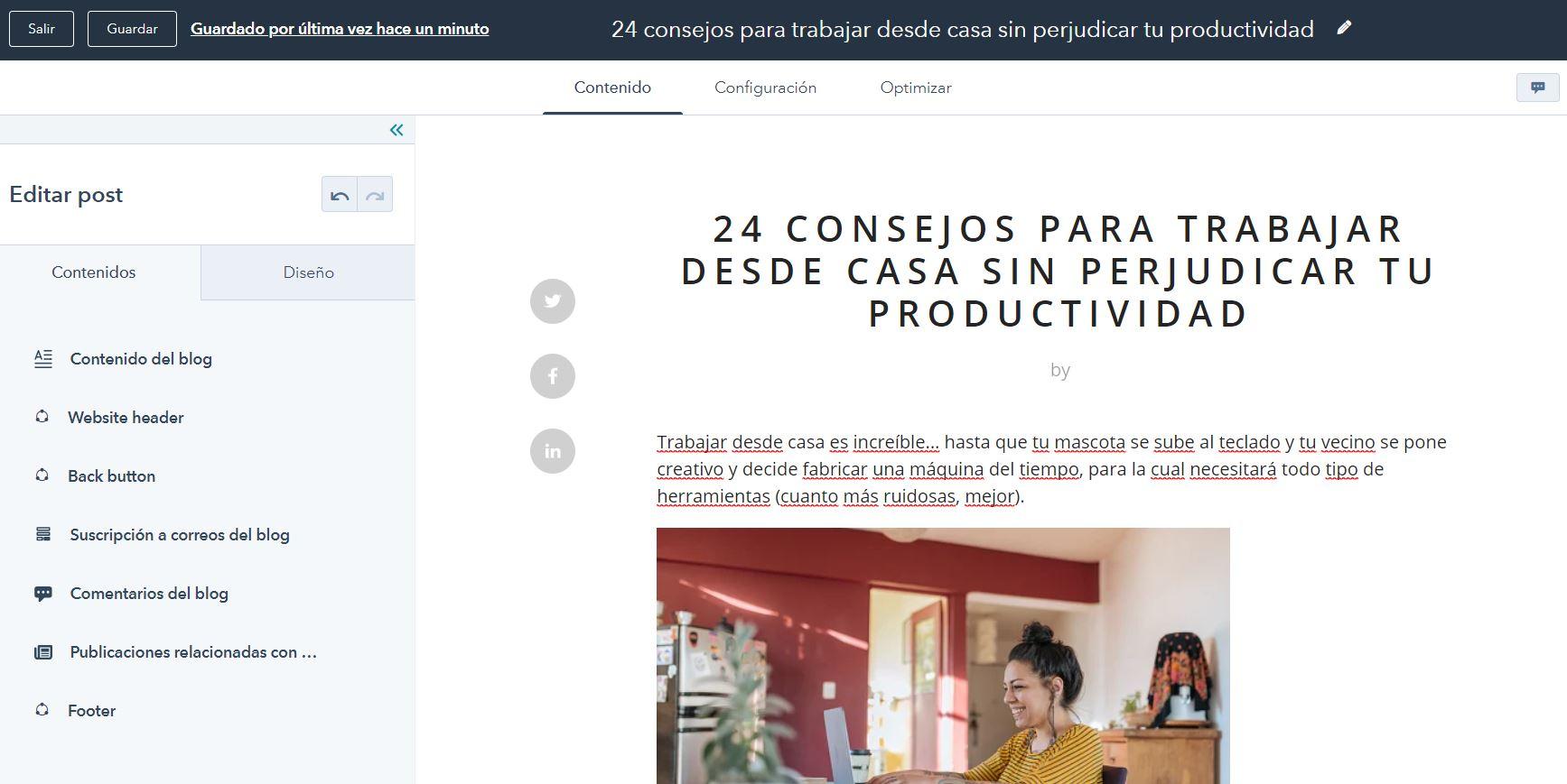 WordPress CMS vs. HubSpot: creación de blog