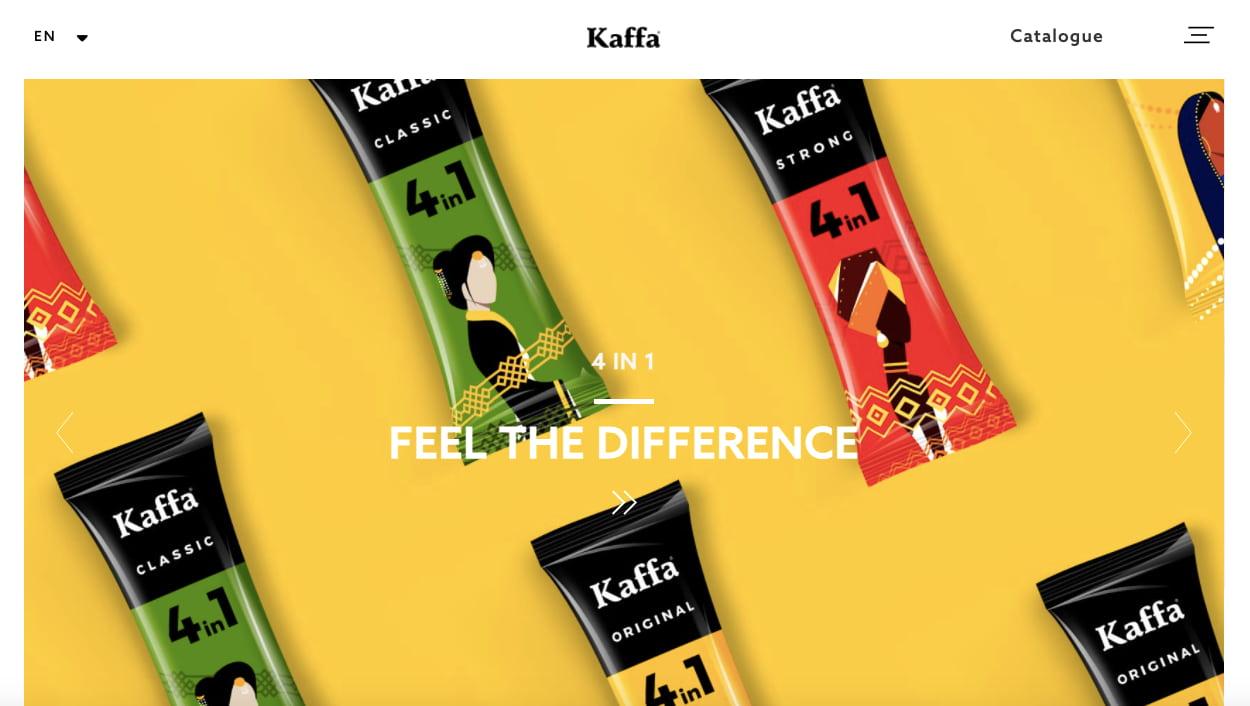 Kaffa website built with Ucraft website builder