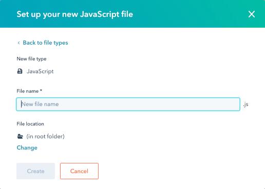 design-manager-new-javascript-file