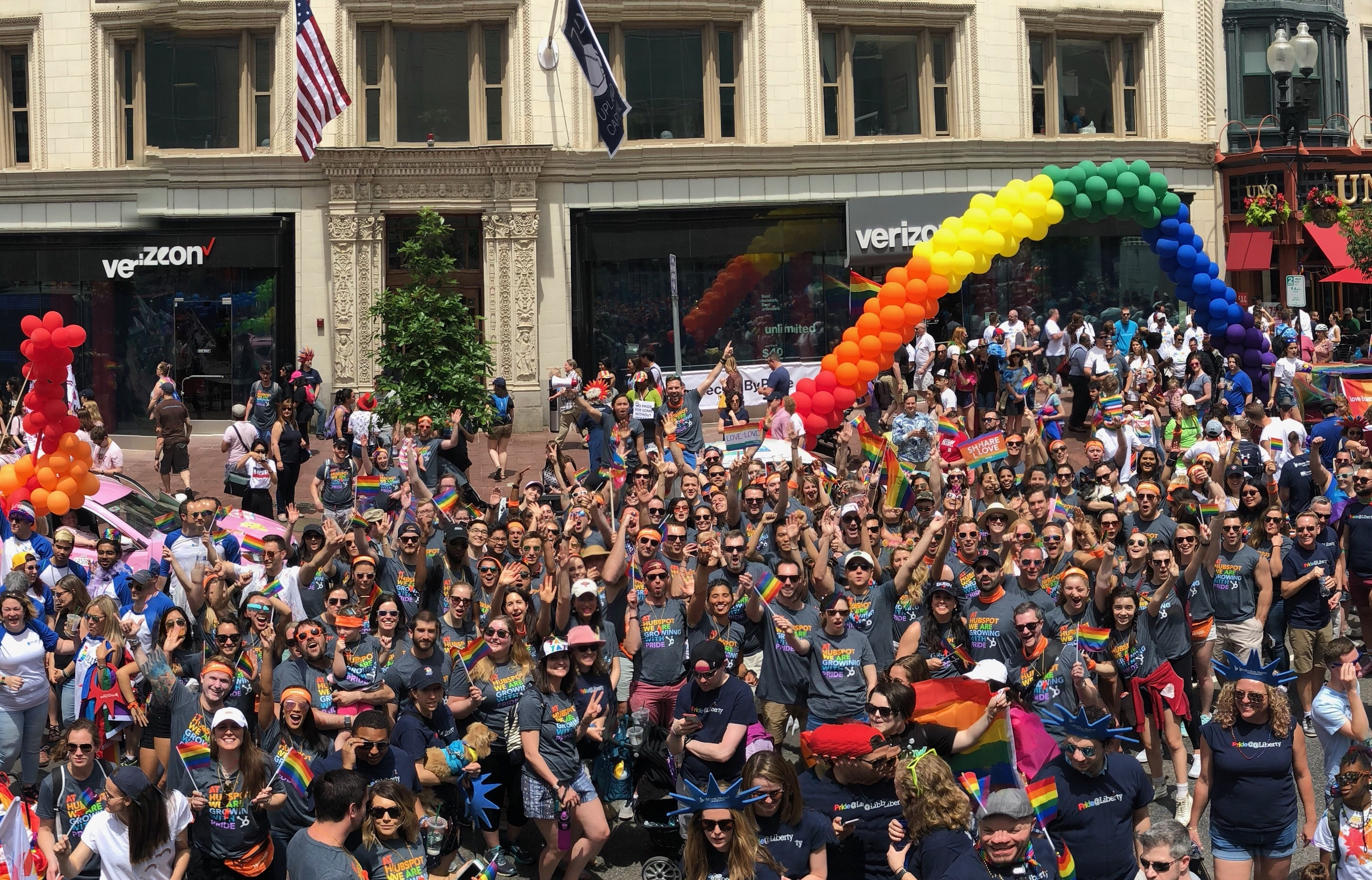 HubSpot Pride March