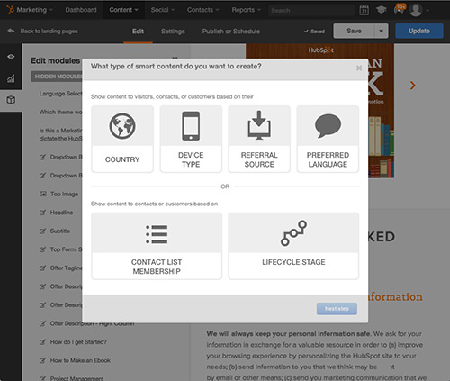 Smart Content for HubSpot Landing Pages