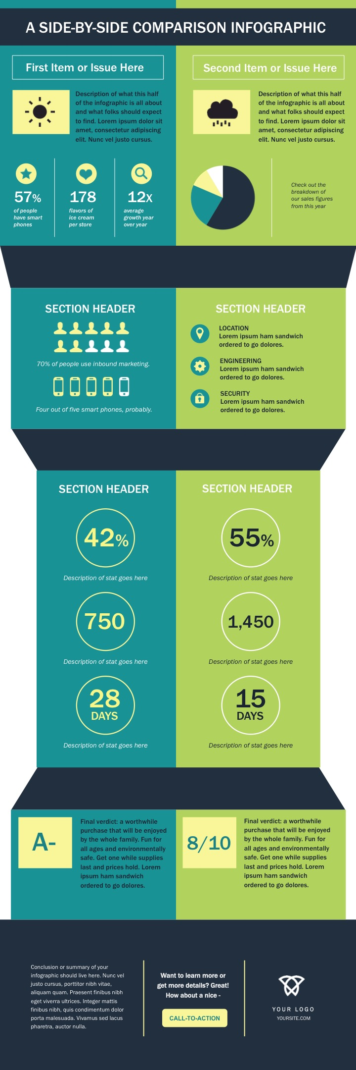Infographic template percentage