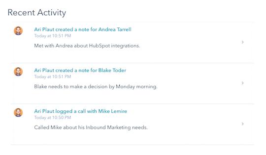 Recent Acitivity widget.png