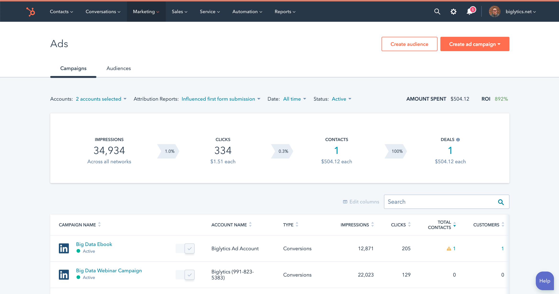 HubSpot Integrates LinkedIn Ads into Professional and Enterprise Tiers of Marketing Hub