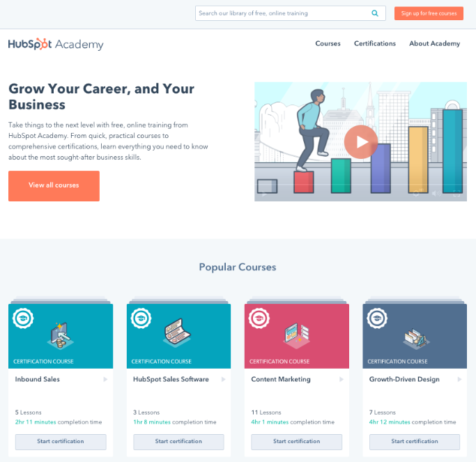 HubSpot Academy Launches Redesigned Website