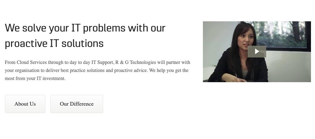 R&G Technologies website demo