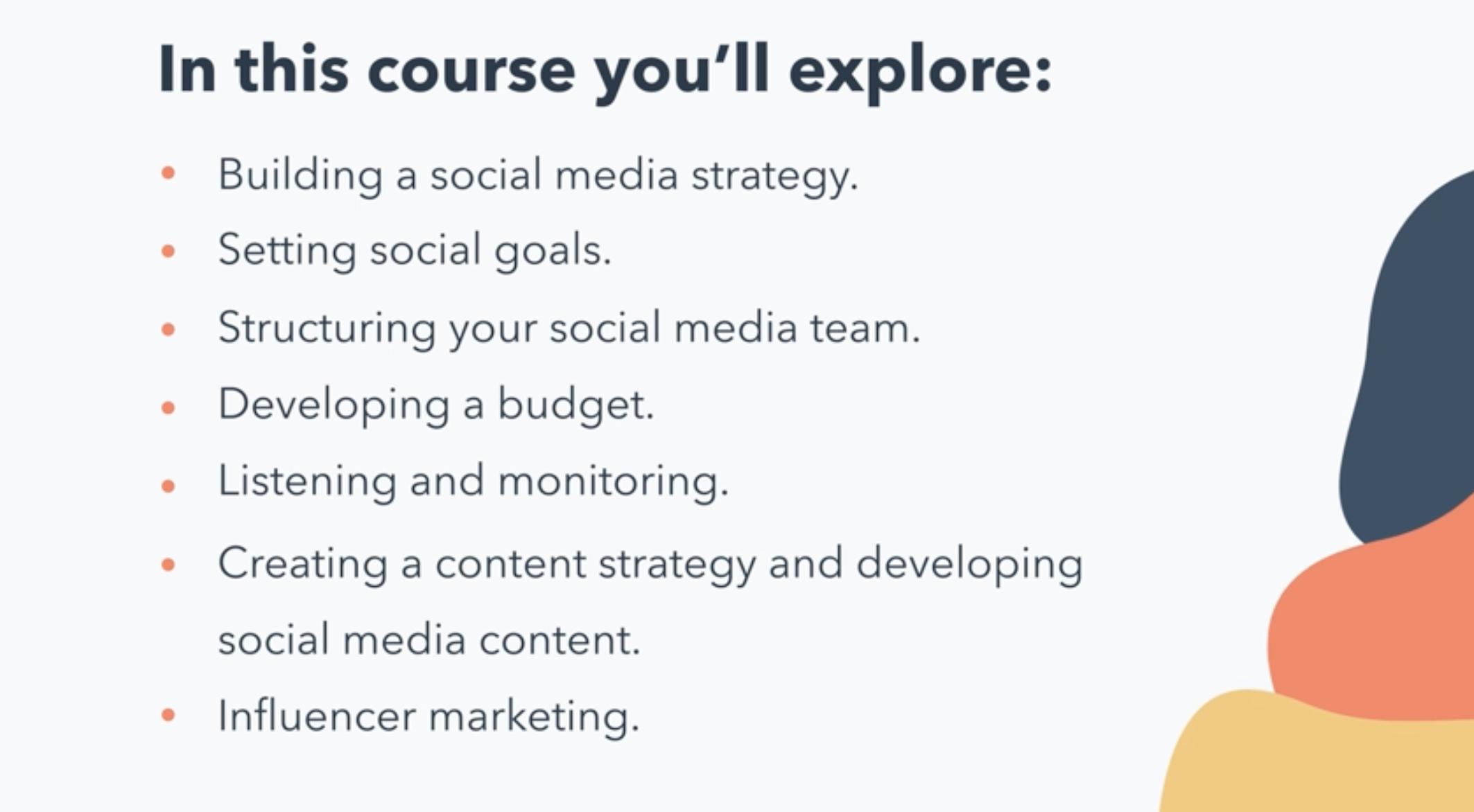 hubspot academy social media certification