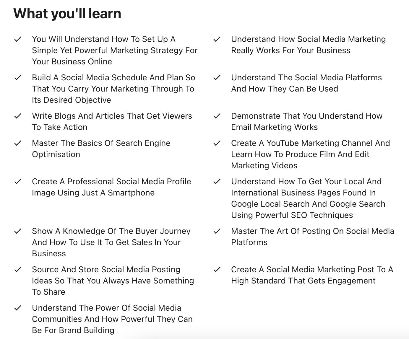 Social Media Marketing Masterclass