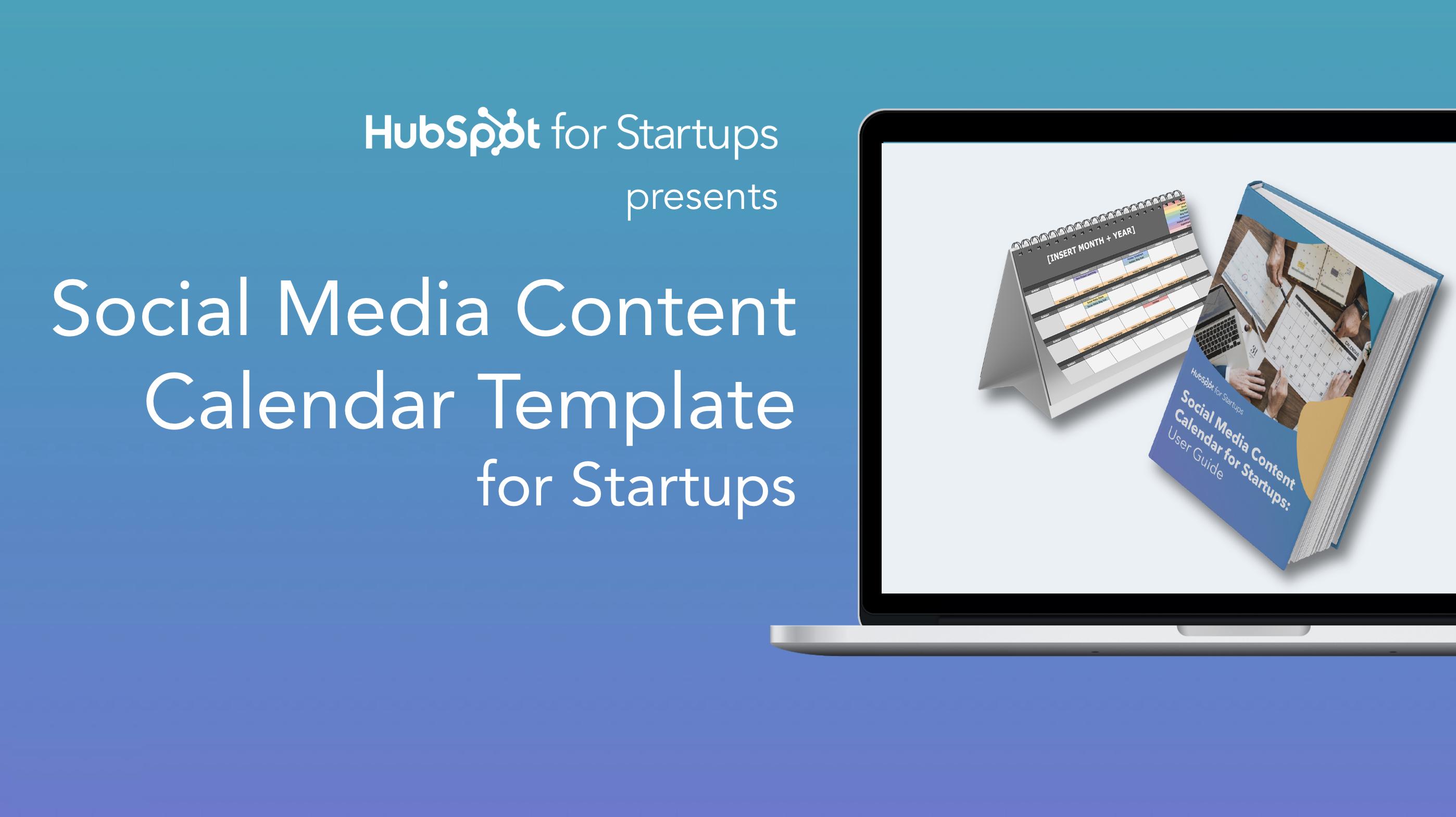 Startup Social Media Content Calendar