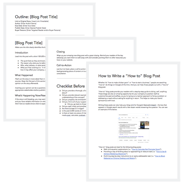 6 Blog Post Templates