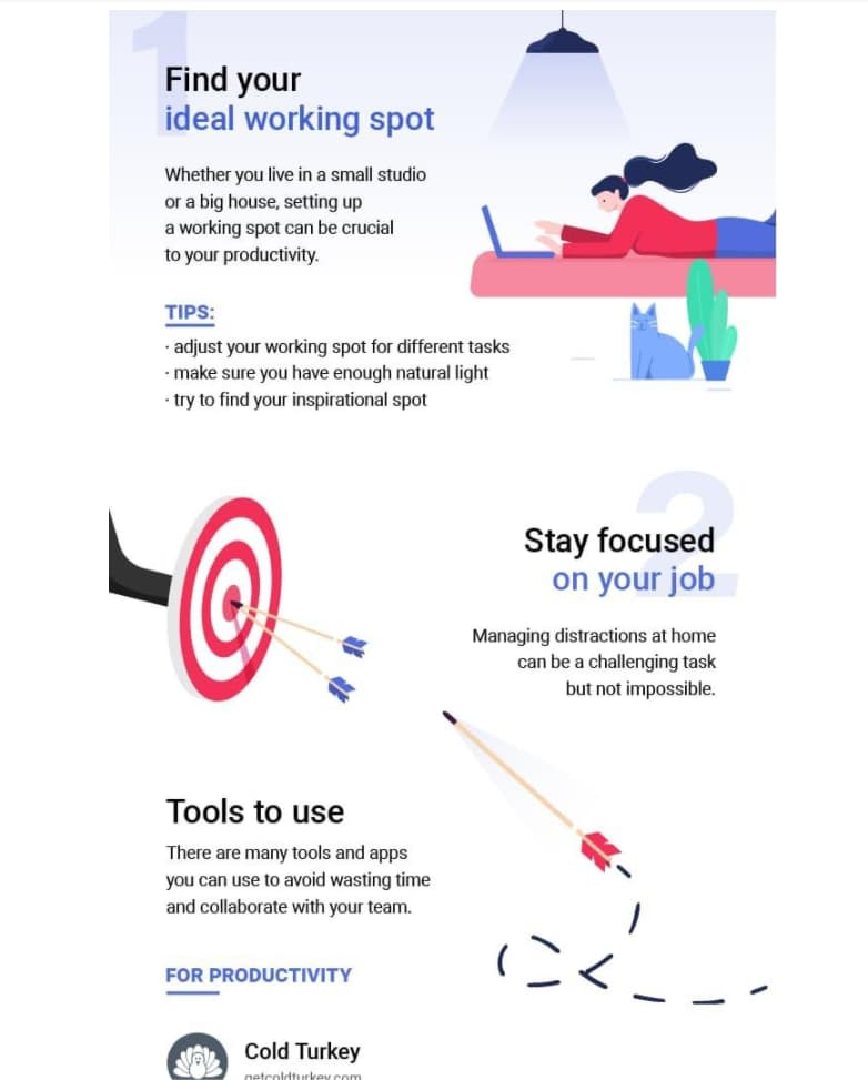 productivity infographic for working from home