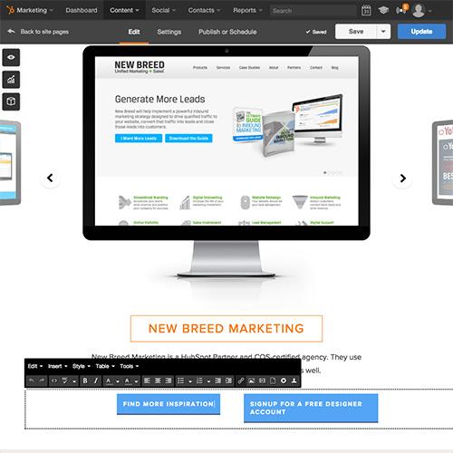 HubSpot Website Platform - Easily Edit Content