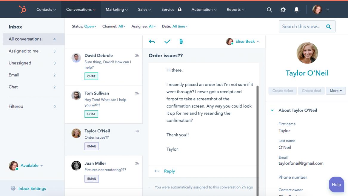 WordPress CRM Free Live Chat