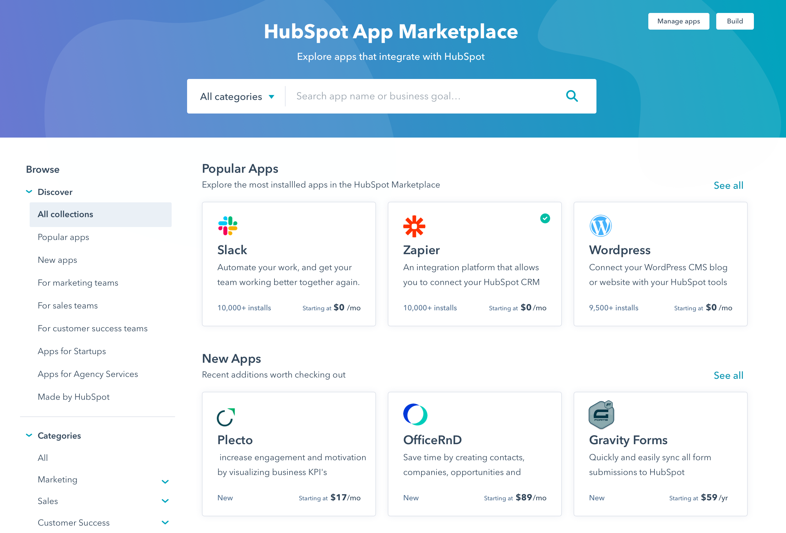 HubSpot Launches Redesigned App Marketplace to Make It Easier for Growing Businesses to Find and Connect with More Than 300 Integrations