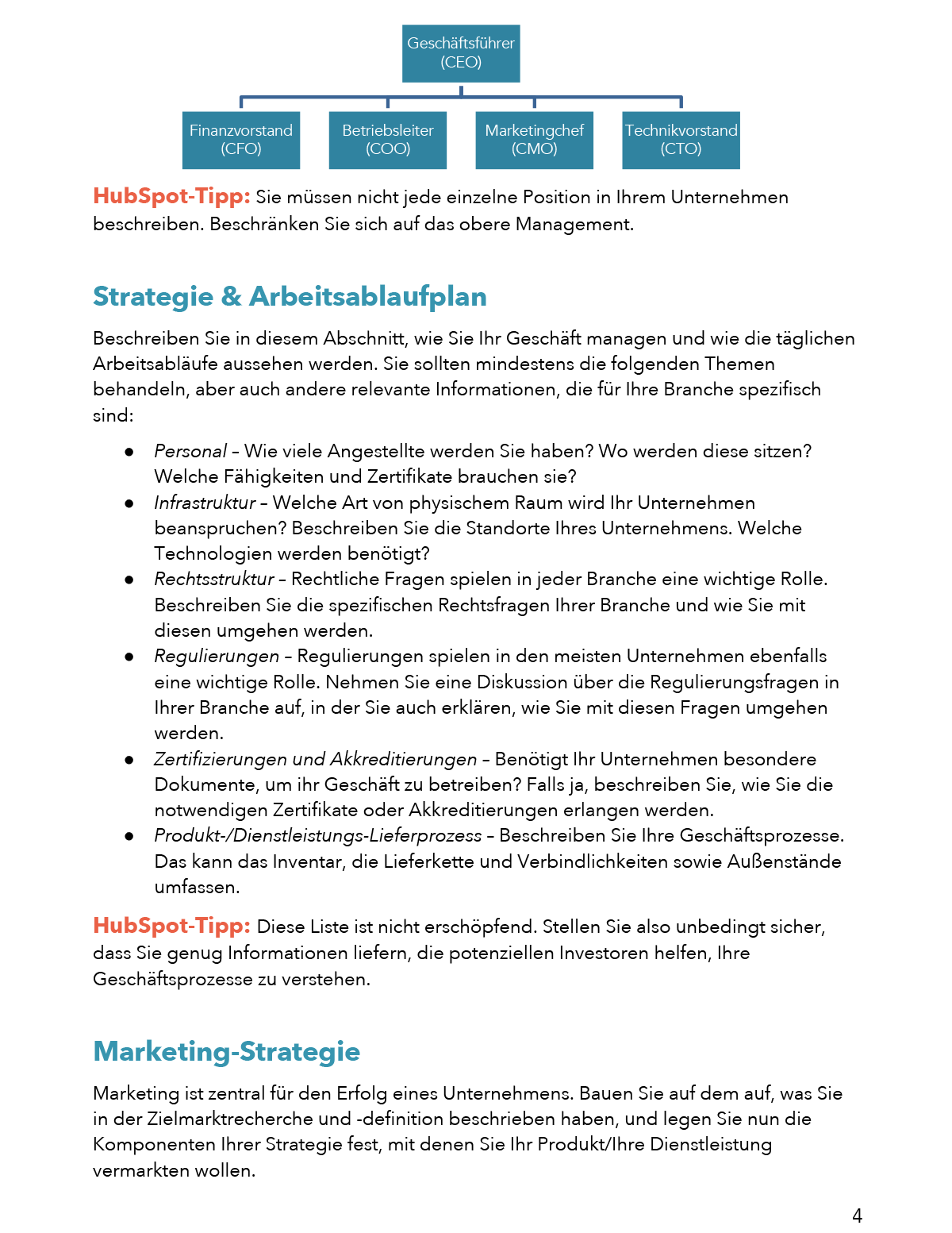 Businessplan Erstellen Kostenlose Word Vorlage Leitfaden 5