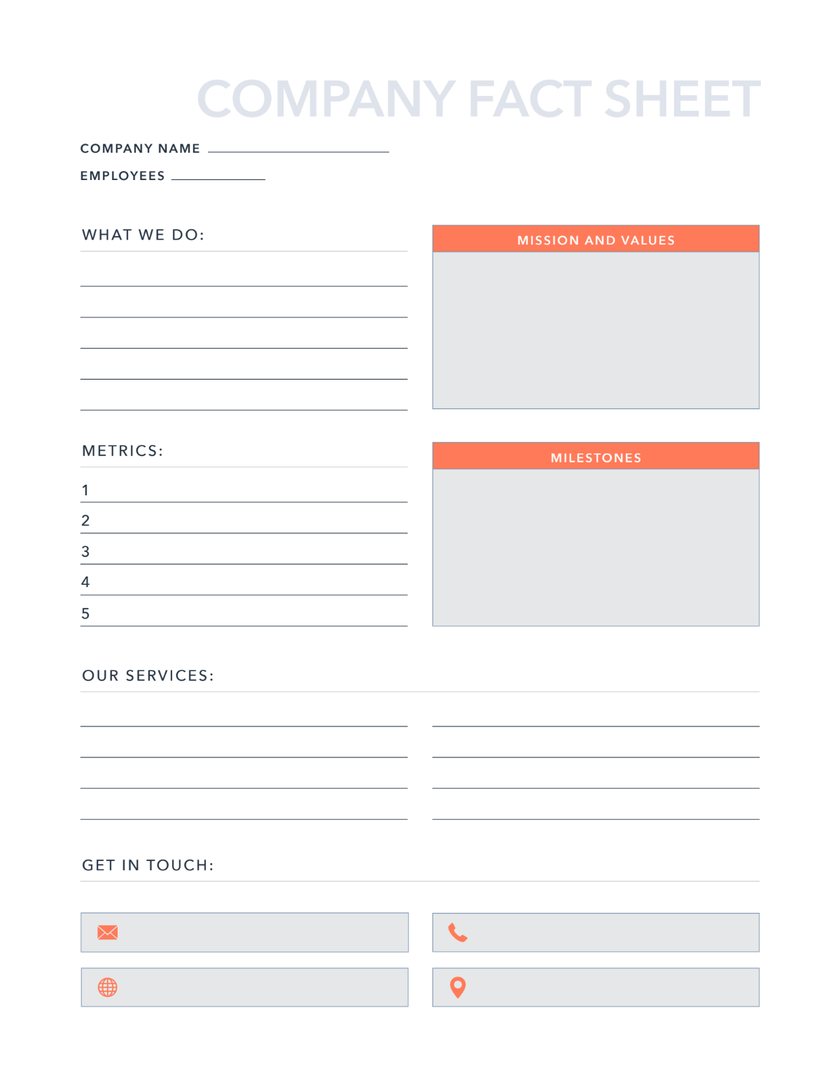 22 Free Word Templates & Examples  HubSpot For Fact Sheet Template Microsoft Word