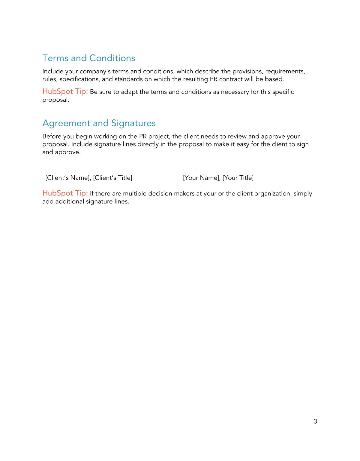 Free PR Proposal Template for PDF   Word   Google Docs   HubSpot