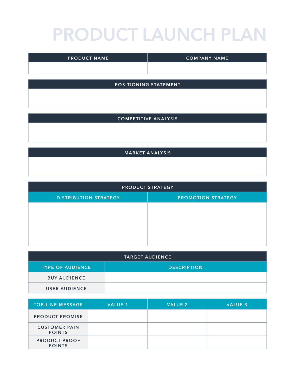 Free Product Launch Plan Template for PDF   Excel   Google Sheets ...