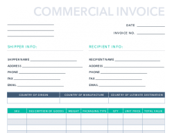 Free Commercial Invoice Template For Pdf Excel Hubspot