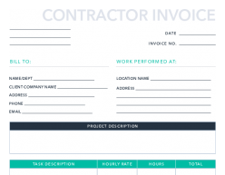 Free Contractor Invoice Template For Pdf Excel Hubspot