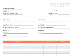 Free Receipt Template For Pdf Excel Hubspot