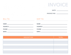 Free Simple Invoice Template For Pdf Excel Hubspot