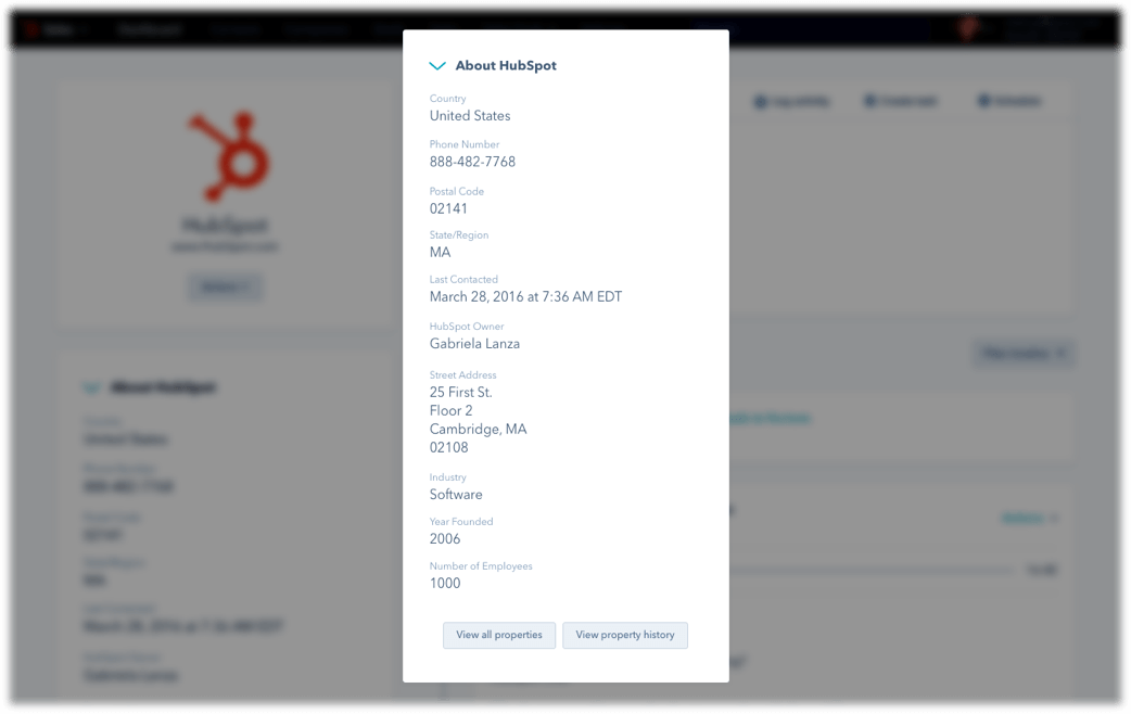 HubSpot CRM - Company Insights Populated Automatically