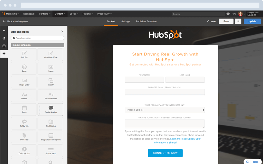 Start Building Landing Pages Today | HubSpot Marketing Software