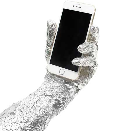 Picture: foil-hand-mobile